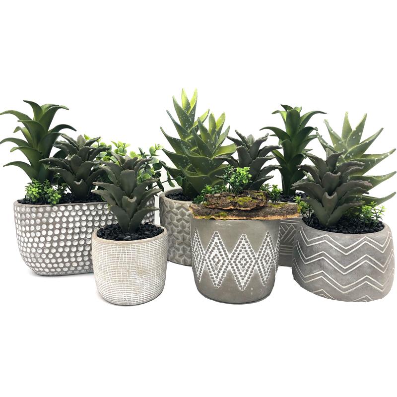 Artificial Realista Suculenta Aloe Vera Planta Tropical Office Garden Home Decor
