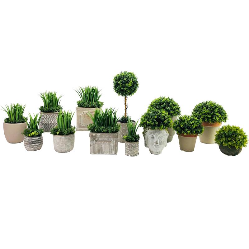 Artificial realista suculenta grama planta Tropical Home Decor Garden