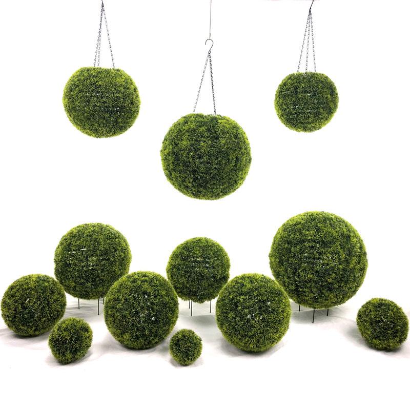 Bolas de grama de buxo Artificial moderno