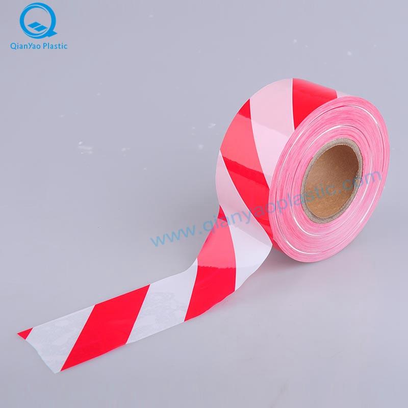 Fita de advertência vermelha / branca u0026 azul / branca da tira / fita do cuidado / fita da barricada / fita da barreira / fita do perigo