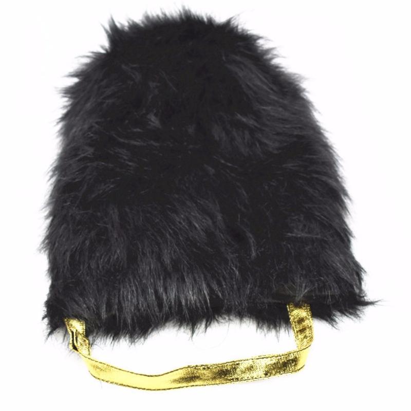 O fabricante vende o capitão do guarda de honra britânico chapéu de festa Plush Black Knight HAT diretamente