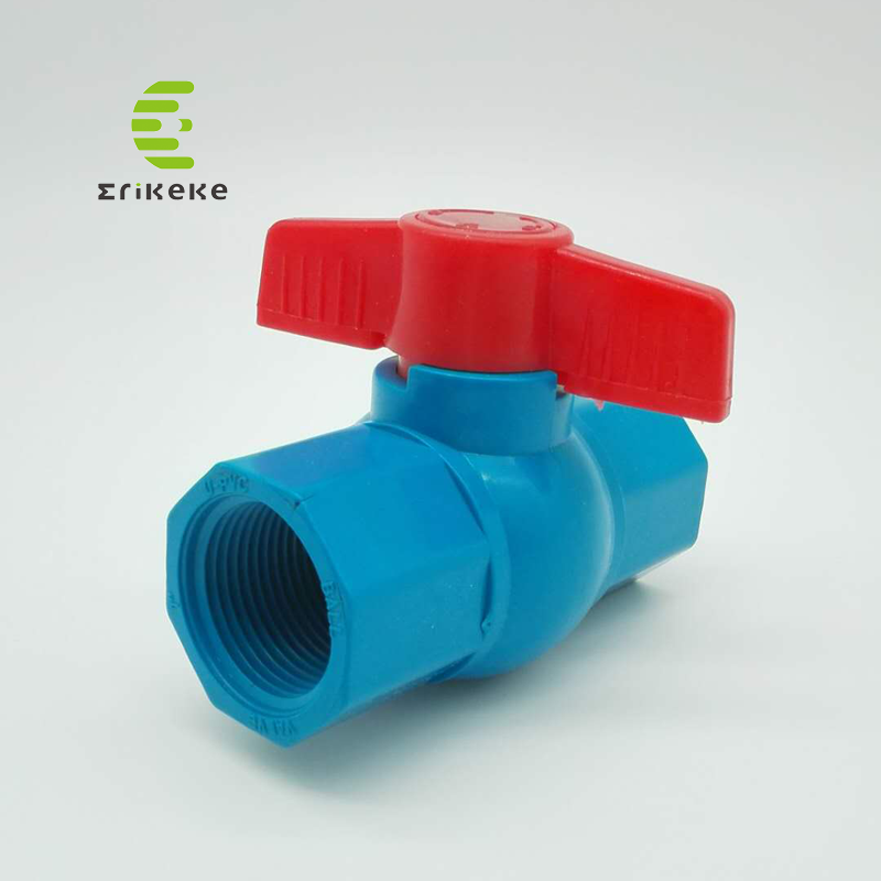 Válvula de bola octogonal de alta pressão do PVC para a água da bebida