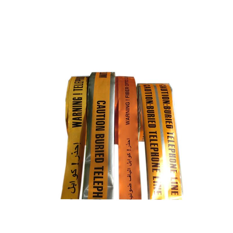Fabricante de alta qualidade por corte barricada de PVC subterrâneo detectável cabo aviso folha de alumínio fita