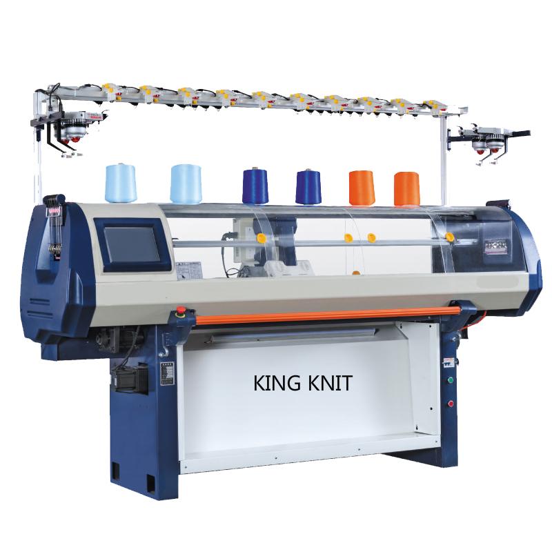Máquina de tricotar plana automática para computador: