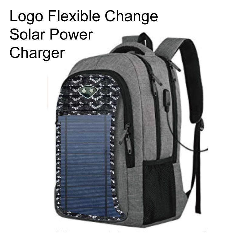 Mochila de energia solar para homens