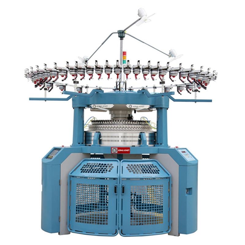 Máquina de tricô circular entrelaçada totalmente informatizada