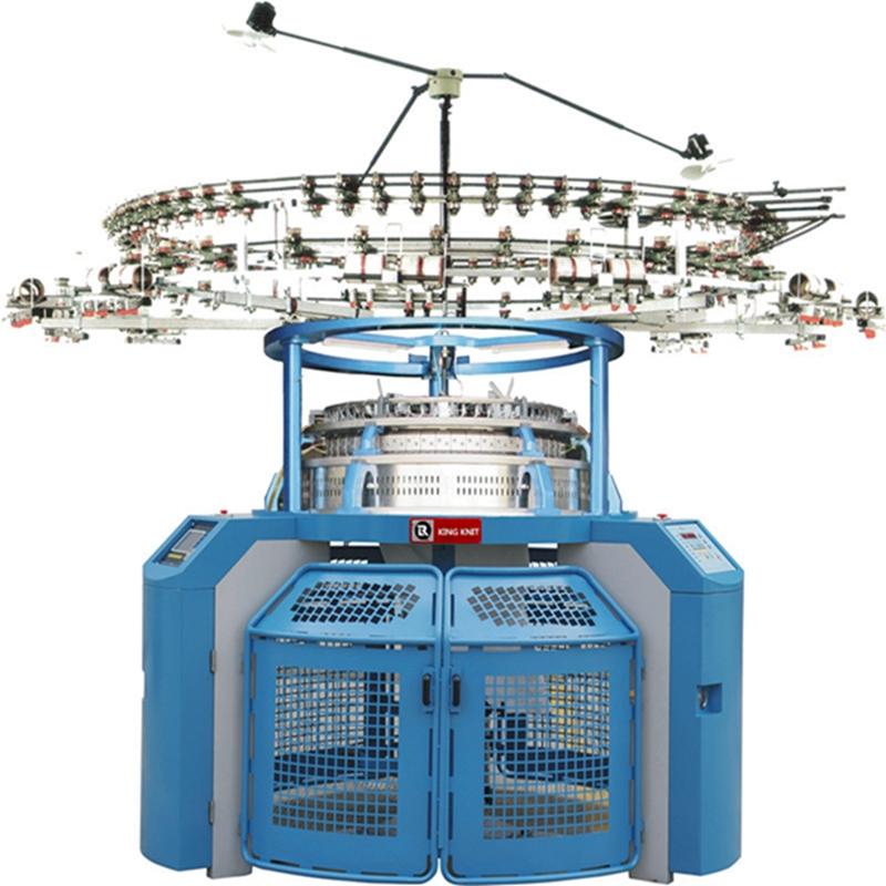 Korea 4 track single jersey jacquard máquina de tricô circular