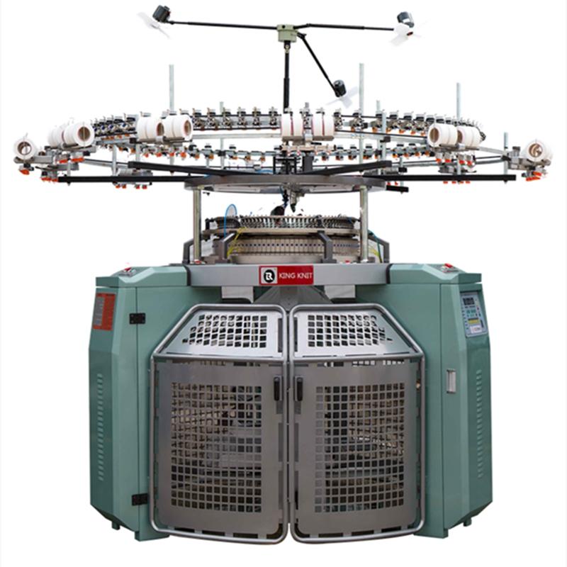 Camisa única de Alta Velocidade com máquina de tricô circular jacquard