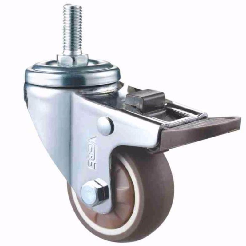 Instalação plana de crómio com rodas TPR de PISO macio