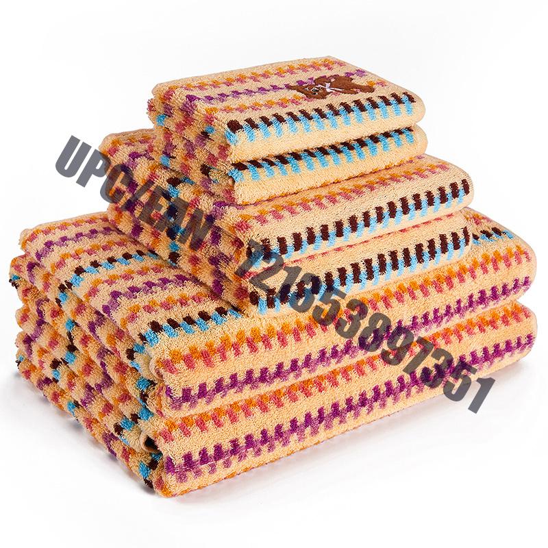 Têxtil JMD de secagem rápida 100% algodão, ursinho bordado dos desenhos animados, conjuntos de toalhas de banho de jacquard tingido multicolor, conjunto de 6 peças (laranja)