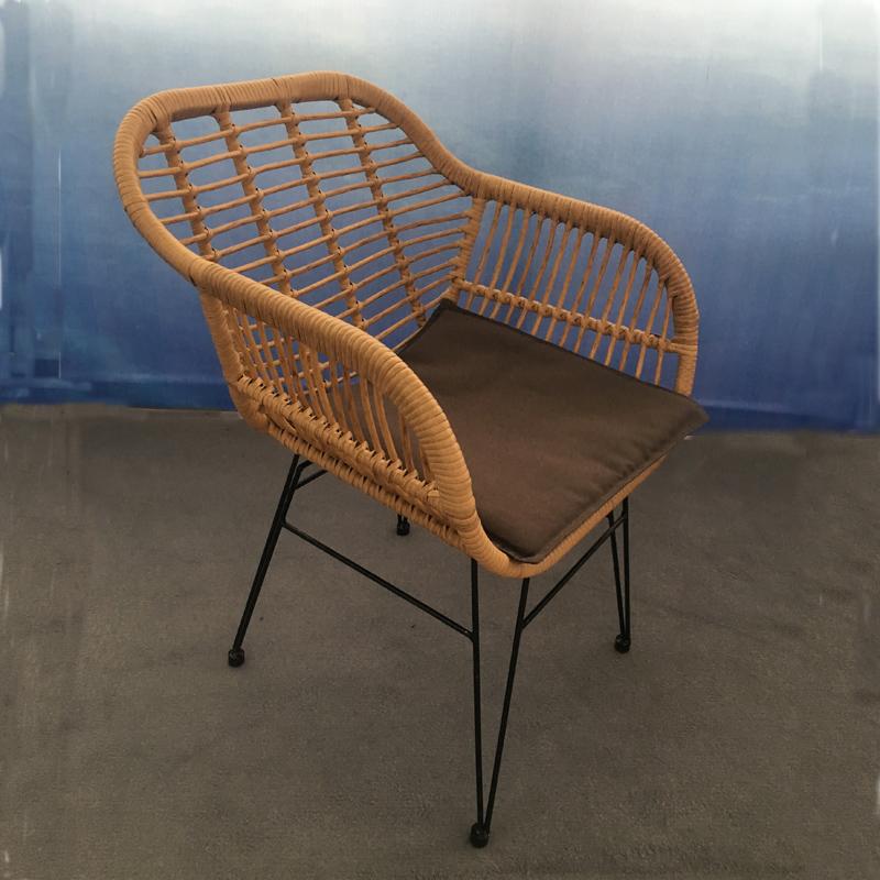 Conjunto de sofá Steel & Wicker 3pcs