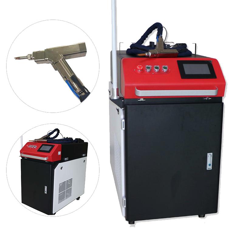 Com cabeça oscilante portátil de alta qualidade máquina de solda a laser de fibra automática para aço inoxidável ferro alumínio cobre latão